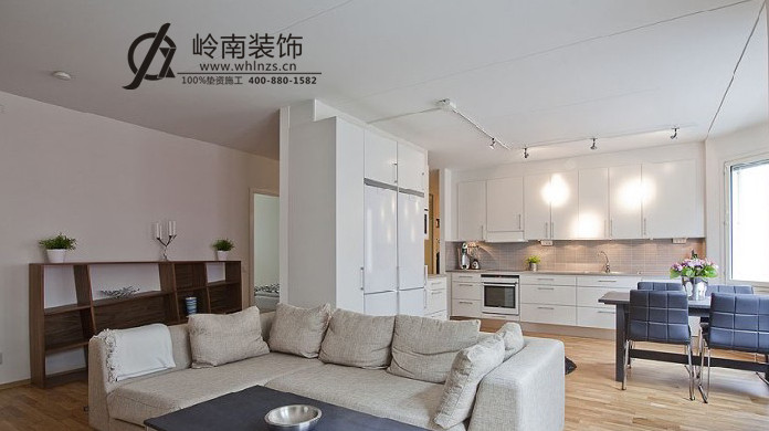 78㎡-客厅装修效果图; 君临天下花园-二居室-78平米-装修设计预算