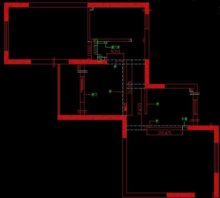 港东名居现代简约风格设计效果图-平面设计图